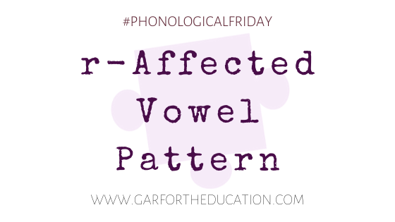r-affected vowel pattern